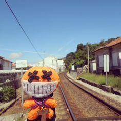 Esperando al #tren :) #Portugal #CaminodeSantiago #peluches #pelucheando