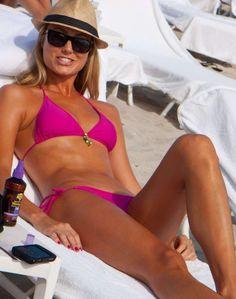 Stacy Keibler in a x Glossy Photo 4 Stacy Keibler, Wrestling Divas, Pink Bikini, Alessandra Ambrosio, Wwe Divas, Bikini Photos, Celebrity Pictures, Bikinis, Swimwear