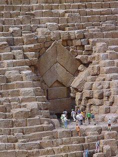 Giza Pyramid Entrance, Egypt: