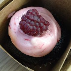 Chocolate cupcake with raspberry buttercream frosting @ Batter Bakery - Kiosk