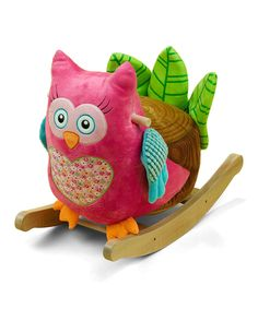 Loving this Owlivia the Owl Rocker on #zulily! #zulilyfinds. $69.99, 9 mos up, says ABC's and Counts.