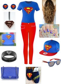 """superman"" by larissadj143 ❤ liked on Polyvore"