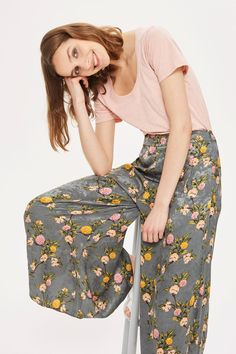Floral Palazzo Wide Leg Trousers - New In Fashion - New In - Topshop
