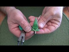 wire wrapping an arrowhead pendant - YouTube