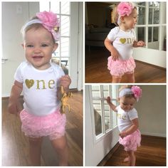 Hey, I found this really awesome Etsy listing at https://www.etsy.com/listing/243129427/pink-and-gold-first-birthday-outfitfirst