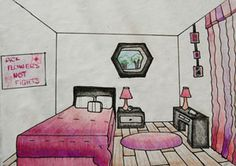 71 Best 1 point PERSPECTIVE room images in 2019   Art ...