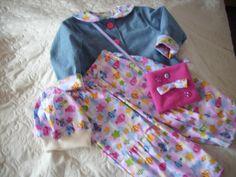 Kapuzenpullis - Set 3 TeiligJacke,Hose Tasche - ein Designerstück von Christa-Wilbert bei DaWanda