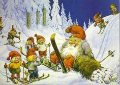Big Papa Gnome fell on his skis! (Artist: Rolf Lidberg.)