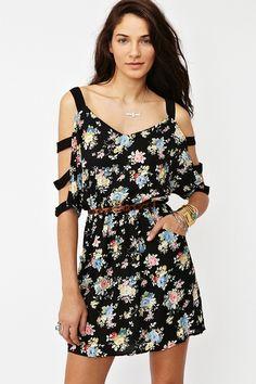 Bouquet Cutout Dress