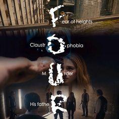 Divergent Four Fears Tobias Eaton Divergent Fanfiction, Divergent Fan Art, Divergent Memes, Divergent Hunger Games, Divergent Fandom, Divergent Trilogy, Divergent Insurgent Allegiant, Divergent Tattoo, Insurgent Quotes
