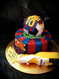 Barcelona theme  Cake by SweetBakings