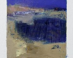 6. Mai 2016 mat - Original Abstract Oil Painting - 9 x 9-Malerei (9 x 9 cm - ca. 4 x 4 Zoll) mit 8 x 10 Zoll