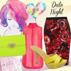 How to mix bold prints & bright colours for a date night: http://www.venusbuzz.com/archives/41741/fashion-friday-mixing-bold-prints-bright-colours/