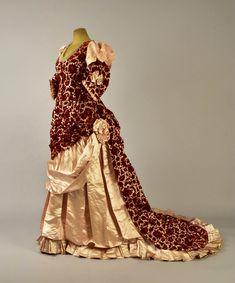 Dress, silk velvet and satin, Mrs. Lumsden designer, British, 1883