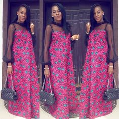 Check Out This Lovely 2018 Ankara Gowns .Check Out This Lovely 2018 Ankara Gowns Ankara Styles For Women, African Dresses For Women, African Print Dresses, African Print Fashion, Africa Fashion, African Attire, African Wear, African Fashion Dresses, African Women