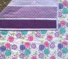 Purple Chevron Baby Quilt. On sale for $49.50!!!!