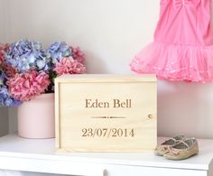 Personalised Baby Wooden Keepsale Box by GrandadPats on Etsy Wooden Keepsake Box, Keepsake Boxes, Height Chart, Personalised Baby, Time Capsule, Charts, In This Moment, Gifts, Etsy