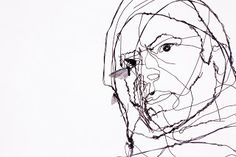 David Oliveira Lisbon-born sculptor David Oliveira creates delicate figurative sculptures using wire that's formed to look like manically drawn ink sketches on top of photographs. Some pieces are even hung by invisible filament creating the illusion of hovering in place.