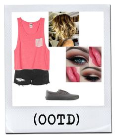 """(OOTD)"" by mrshemmings10 ❤ liked on Polyvore featuring moda, Topshop ve Vans"