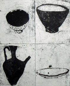 Ritsuko  Ozeki - Hibi 15.16.13.14, 2009 Formatting Print lift ground etching, aquatint   19.5 x 15.5 in Edition of 25