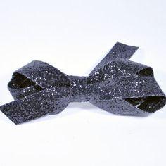 Pince barrette festive paillettes black