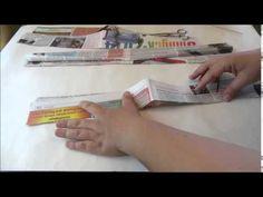 МК Как крутить газетные трубочки из разных видов бумаги - YouTube