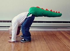 Adorable Dragon Tail!  Best make-believe costume ever!