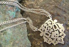 Arabesque pendant - Nadia Dajani - Arabic Calligraphy Jewellery
