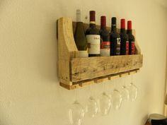 Mooi landelijk wijnrek gemaakt van sloophout. Nu te bestellen op www.alshetmaarvanhoutis.nl
