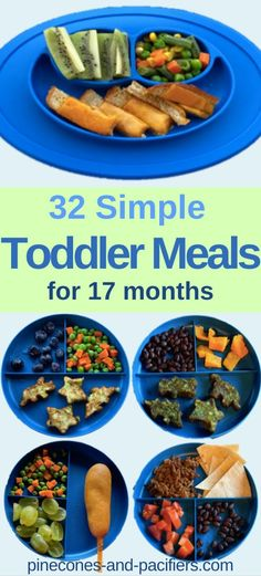 Simple Toddler Meal Ideas - 17 months - Simple Toddler Meal Ideas – 17 months 32 easy and healthy baby-led weaning and toddler meal ideas for busy moms! What my toddler eats at 17 months old for breakfast, lunch, and dinner. Picky Toddler Meals, Toddler Lunches, Kids Meals, Toddler Dinners, Toddler Food, Healthy Toddler Meal Ideas, Baby Led Weaning, Baby Food Recipes, Healthy Recipes