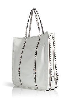 Valentino.....White Studded Leather Bag