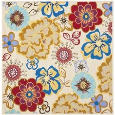 @Overstock - This Four Seaons rug features a hand-hooked polypropylene pile providing comfort and softness to the touch while providing protection from liquid spills, soil, and the element's worsthttp://www.overstock.com/Home-Garden/Safavieh-Four-Seasons-Stain-Resistant-Hand-hooked-Ivory-Rug-6-Square/7655105/product.html?CID=214117 $177.09