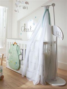 Voile de lit bébé brodé Conte poétique BLANC - vertbaudet enfant