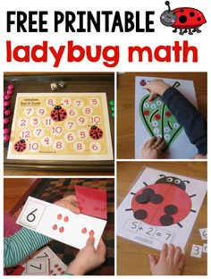 Here is a huge collection of ladybug math ideas for preschool, kindergarten and…