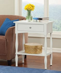 Ivory Shaker Cottage End Table