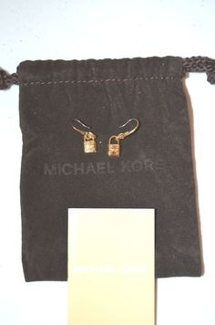 Michael Kors Padlock Drop Earrings in Gold-Brand New with Dust Bag and Booklet #MichaelKors #DropDangle