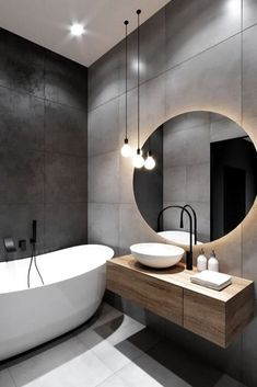 Black Bathroom Taps, Wood In Bathroom, Black Bathrooms, Modern Small Bathrooms, Dream Bathrooms, Bathroom Furniture, Grey Bathroom Interior, Modern Contemporary Bathrooms, Bathroom Stand