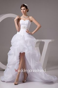 Best Glorious Sweetheart A-line Asymmetry-length Chapel Wedding Dress - Shop Online for Beautiful Wedding Dresses