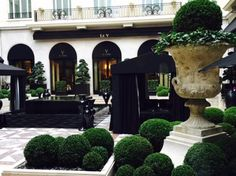 Courtyard and Le Cinq