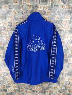 fd1f64b69 KAPPA Track Jacket Medium Streetwear Vintage 90's Kappa Italia Windbreaker  Sportswear Trainer Sports Kappa Blue Ribbon Jacket Size M