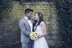 October London wedding -  alternative wedding photography, ivy, old wall