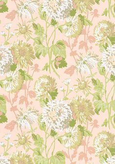 Longwood #wallpaper in #pink from the Richmond collection. #Thibaut