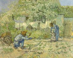 Vincent van Gogh: First Steps (after Millet). Oil on canvas. Saint-Remy, 1890. New York: The Metropolitan Museum of Art.