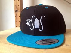 5 Seconds of Summer Snapback Cap. Choose your colour and customize your embroidery colours. 5 SOS snap back