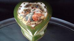M Elfinware Porcelain Heart Shaped Trinket by frankiesfrontdoor, $22.00