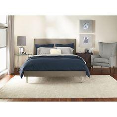 Hudson Wood Nightstands with Steel Base - Modern Nightstands - Modern Bedroom Furniture - Room & Board