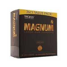Buy Trojan Magnum Lubricated Latex Condoms, Large Size - 36 ea | Larger than standard latex condoms for extra comfort. myotcstore.com - Ezy Shopping, Low Prices & Fast Shipping.
