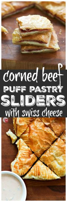 Corned Beef Swiss Cheese Puff Pastry Sliders   Take Two Tapas