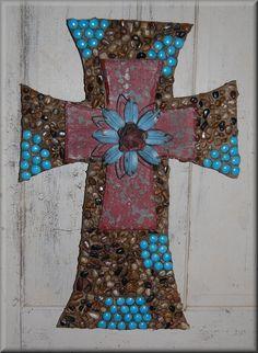 decorative wooden crosses | Cross, wall cross, rock cross, glass bead cross, decorative cross ...