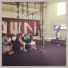 H-town nutrition going down this past Saturday. How comprehensive is your gym? #YouAreWhatYouEat #crossfit #htownies